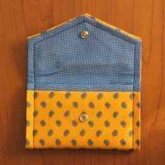 I made these business/credit/gift card holders from second-hand neckties. I *love* shopping for second-hand neckties :)