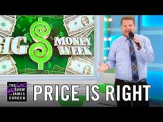 James Corden subs as the male model on the Price is Right. I love him so much!