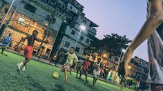 A 200-tile people-powered football pitch situated in the Morro de Mineira favela, a deprived area in Brazil. As the children run, their energy is stored in batteries to power the pitch floodlights...