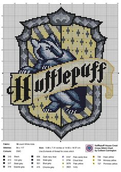 The World In Stitches – Hufflepuff House Crest Kreuzstichvorlage. … The World In Stitches – Hufflepuff House Crest Kreuzstichvorlage. …,Harry Potter The World In Stitches – Hufflepuff House Crest Kreuzstichvorlage. Cross Stitching, Cross Stitch Embroidery, Embroidery Kits, Simple Embroidery, Beaded Cross Stitch, Hand Embroidery Patterns, Harry Potter Cross Stitch Pattern, Cross Stitch Patterns Free Disney, Disney Cross Stitches