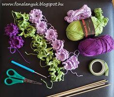 FONAL ANYUK: Horgolt levendula Crochet Flowers, Flower Decorations, Knitting, Create, Pink, Crochet Vase, Feltro, Tela, Paper