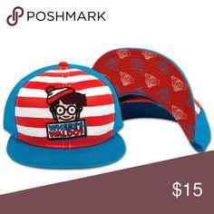 2c3d50d652c I just added this listing on Poshmark  Where s Waldo Flat Snapback Snap Back  Striped Blue