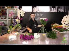 Cómo hacer un ramo de flores en espiral - YouTube