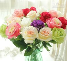 Outdoor Wedding Flowers New Arrivals 50cm/19.69 Length Artificial Silk Flowers Simulation Rose Multilevel Single Roses Wedding Flower Flowers And Gifts From Xiaorong2010, $20.74| Dhgate.Com