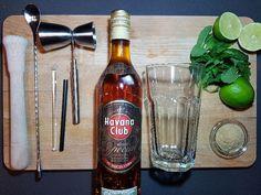 Benodigdheden mojito met bruine rum Mojito, Havana Club, Beer Bottle, Rum, Beer Bottles, Rome