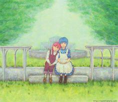 """『二人の庭』北原 千 """"Their Garden"""" By Sen Kitahara, アクリル, art, acrylic"""