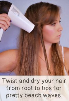 Dry your hair and get those pretty waves all in just one step!