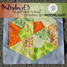 Multiples of 3 - quilt block tutorial