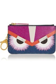 Fendi|Monster embellished printed textured-leather bag charm|NET-A-PORTER.COM