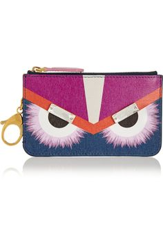 b3f3fd1beaeb Fendi - Monster embellished printed textured-leather bag charm