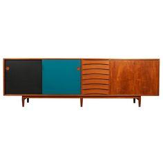 Arne Vodder Teak and Lacquer Sideboard for Sibast Furniture