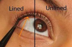 "How to ""tightline"" your eyeliner. Applying eyeliner in between your lashes All Things Beauty, Beauty Make Up, Hair Beauty, Eyeliner Perfecto, Beauty Secrets, Beauty Hacks, Beauty Ideas, Do It Yourself Nails, Perfect Eyeliner"