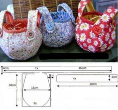 Bag pattern, instructions not in English.
