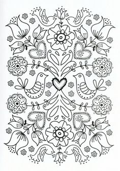 Flower Coloring Pages For Adults Printable - Free Coloring Sheets Adult Coloring Pages, Flower Coloring Pages, Printable Coloring Pages, Coloring Sheets, Printable Art, Coloring Books, Mandala Coloring, Mothers Day Coloring Pages, Printables