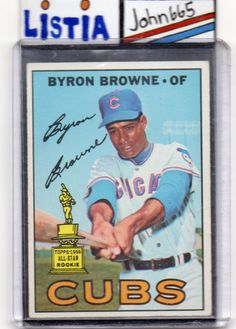 BYRON BROWNE - 1967 TOPPS #439 - EX+ NICE CARD !!! - CHICAGO CUBS - FREE S/H