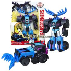 Hasbro Year 2016 Transformers Robots In Disguise Combiner Force 3 Steps Change 9 Inch Tall Figure - Seismic Strike THUNDERHOOF (Vehicle Mode: Tractor)