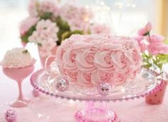 Cake Pink Birthday Valentines Day New Ideas Funny 50th Birthday Cakes, White Birthday Cakes, Beautiful Birthday Cakes, Beautiful Cupcakes, Happy Birthday Images, Birthday Cupcakes, Tolle Cupcakes, Garden Cakes, Cupcake Art