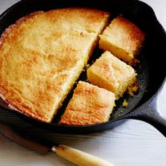 Cast Iron Skillet Corn Bread by Alex Guarnaschelli Cast Iron Skillet Cornbread, Iron Skillet Recipes, Cast Iron Recipes, Homemade Butter, Home Baking, Milk Recipes, Special Recipes, Corn Bread, Food Network Recipes