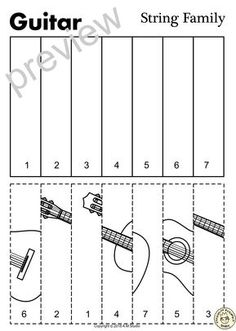 String Instruments Line Puzzles Preschool Music Activities, Cutting Activities, Leadership Activities, Classroom Activities, Group Activities, Music Flashcards, Music Worksheets, Elementary School Counseling, Elementary Music