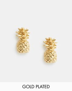 Pretty Pineapple Stud Earrings