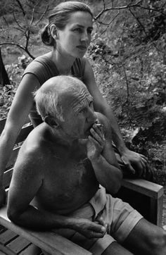 Francoise Gilot and Pablo Picasso, Vallauris, 1951. Robert Capa