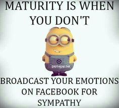 Funny Minion Quote About People vs Facebook