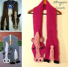 Crochet Animal Scarves Free Patterns Included   The WHOot