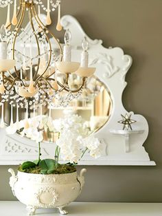 https://flic.kr/p/6R1ag4 | Orchids, chandelier, and a mirror