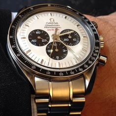 Limited edition Omega Speedmaster celebrates the Apollo XI 35th anniversary of the moon landing.