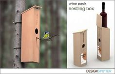 Recycled  Wine Box - Multifunctional Packaging