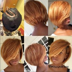 STYLIST FEATURE| Obsessed with this #quickweave bob ✂️ transformation by #IndyStylist @misssnob.bae This color and cut are on point Follow and book @misssnob.bae NOW  #voiceofhair ✂️========================== Go to VoiceOfHair.com ========================= Find hairstyles and hair tips! =========================