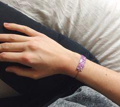 Bracelet GLITTER / Nouveau coloris! / Summer 15 Chouette Fille www.chouettefille-shop.com