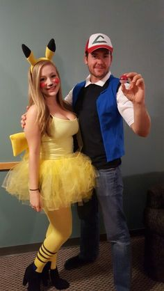 Ash Ketchum and Pikachu #couplescostume #ashketchum #pikachu #pokemon #halloween #costume #couples #bestcostume