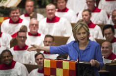 Clinton said the pope's message of inclusion helped her move past her bitterness.