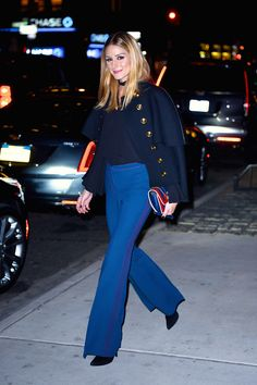 2016: The Year Olivia Palermo Proved She's a Style Icon via @WhoWhatWearAU Thank God, wide leg/flair pants.