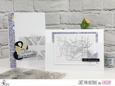 "Australe : Tampons & matrices de coupe (dies) #4enscrap ""Ville"" Tampons, Birthday Cards, Card Making, Paper Crafts, Scrapbook, Paris, London, Diy, Handmade"