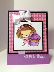 Karen's Kraft Room: Happy Birthday with Copics and Bling Girl Birthday Cards, Birthday Wishes Cards, Happy Birthday, Penny Black Cards, Spectrum Noir, Art Impressions, Rubber Stamping, Card Crafts, Copics