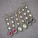 Four Swarovski Crystal Drop Earrings