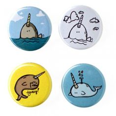 narwhals, narwhals, swimming in the ocean, causing a commotion, because they are so awesome!