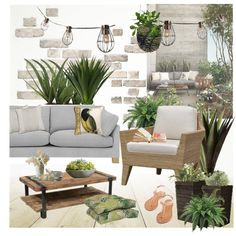 Outdoor by helenevlacho on Polyvore featuring interior, interiors, interior design, home, home decor, interior decorating, John Lewis, Palecek, Pier 1 Imports and Campania International