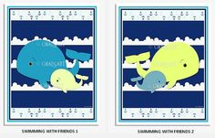 M2M Circo WHALES 'n WAVES Collection Prints Cute Whale by Chadsart