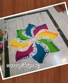 Design Simple Rangoli Designs Images, Small Rangoli Design, Beautiful Rangoli Designs, Kolam Designs, Rangoli Ideas, Rangoli Designs Diwali, Diwali Rangoli, Easy Rangoli, Sanskar Bharti Rangoli Designs