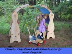 Natural Wooden Waldorf Playstand (from Elves and Angels)
