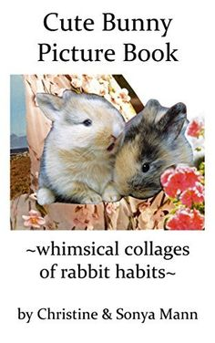 Cute Bunny Picture Book: whimsical collages of rabbit habits
