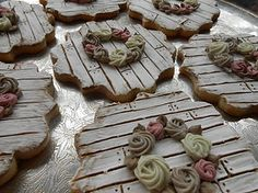 Image result for shabby chic wedding cookies