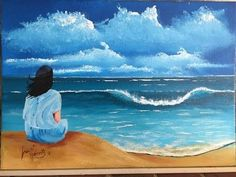 "girl on the dunes ""Serenity""  ACRYLIC"