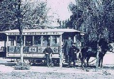 Toonerville trolley at 4th and Oak 1885. Louisville KY