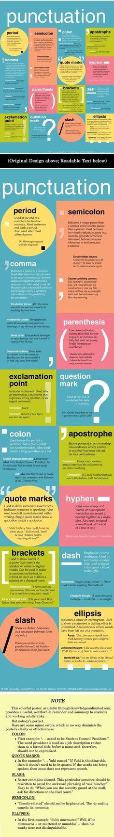 Punctuation in English Teaching Writing, Writing Help, Writing Skills, Essay Writing, Writing Prompts, Writing Tips, Writing Resources, Writing Services, English Writing