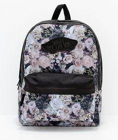 Vans Realm Floral Black 22L Backpack 06fb6bddd2bc5