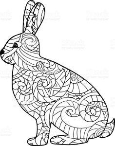 Hand Drawn Rabbit royalty-free stock vector art
